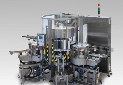 Labelling machine for glue label with capacity 30.000 - 80.000 bph